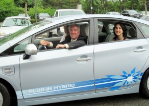 Toyota Plug-in Prius that was on loan to Medford